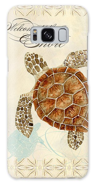 Coastal Waterways - Green Sea Turtle Galaxy Case by Audrey Jeanne Roberts