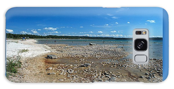 Coastline Of Lake Michigan  Near Petoskey State Park - Little Traverse Bay Galaxy Case