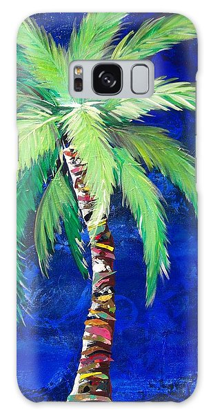 Cobalt Blue Palm II Galaxy Case