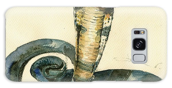 Cobra Snake Watercolor Painting Art Wall Galaxy Case