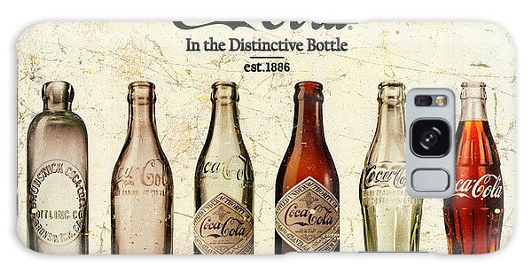 Coca-cola Bottle Evolution Vintage Sign Galaxy Case by Tony Rubino