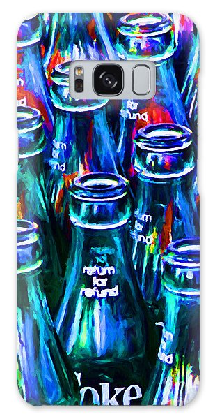 Coca-cola Coke Bottles - Return For Refund - Painterly - Blue Galaxy Case