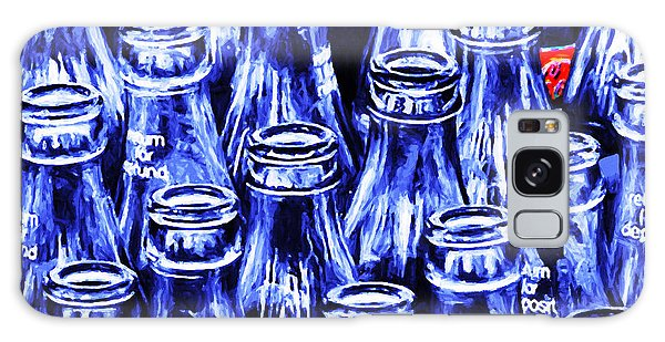 Coca-cola Coke Bottles - Return For Refund - Square - Painterly - Blue Galaxy Case