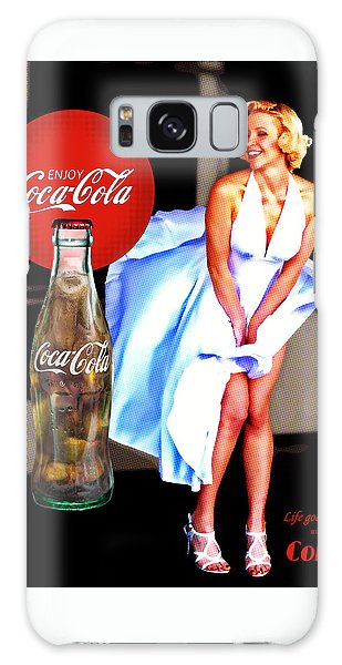 Galaxy Case featuring the photograph Coca Cola Girl Marilyn by James Sage