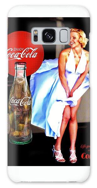 Coca Cola Girl Marilyn Galaxy Case
