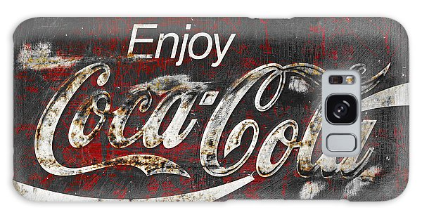 Coca Cola Grunge Sign Galaxy Case by John Stephens