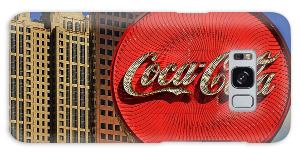 Coca Cola Neon Sign Atlanta Galaxy Case by Daniel Woodrum