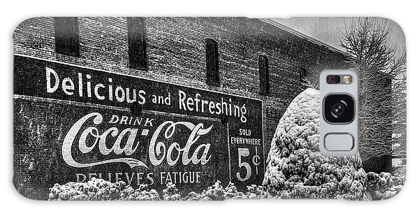 Coca Cola Sign In Bw Galaxy Case