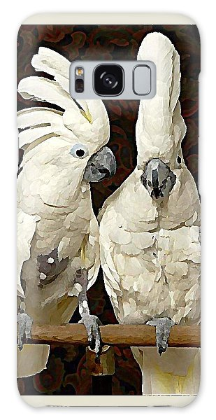 Galaxy Case - Cockatoo Conversation by Raven Hannah
