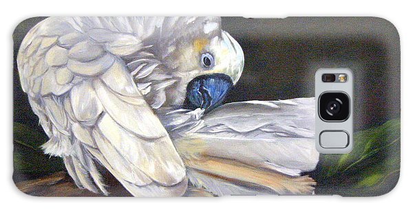 Galaxy Case - Cockatoo Preening by Anne Kushnick