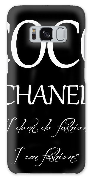 Coco Chanel Quote Galaxy Case by Dan Sproul