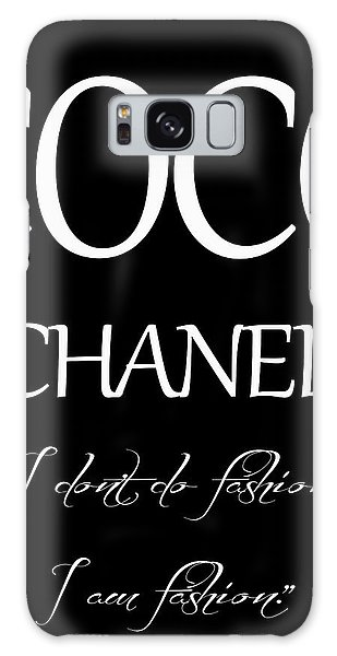 Coco Chanel Quote Galaxy Case