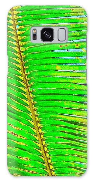 Coconut Palm Leaf Aloha Galaxy Case