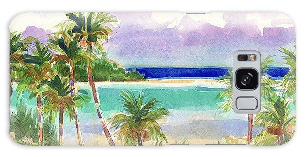 Coconut Palms And Lagoon, Aitutaki Galaxy Case