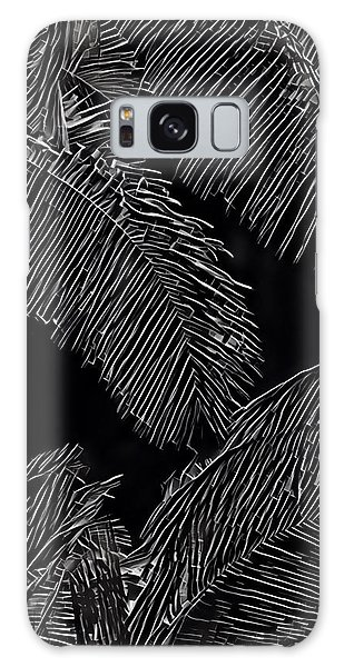 Coconut Palms In Black And White Galaxy Case