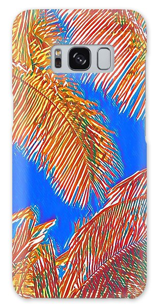 Coconut Palms In Red And Blue Galaxy Case