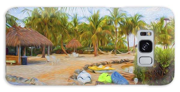 Coconut Palms Inn Beach Galaxy Case