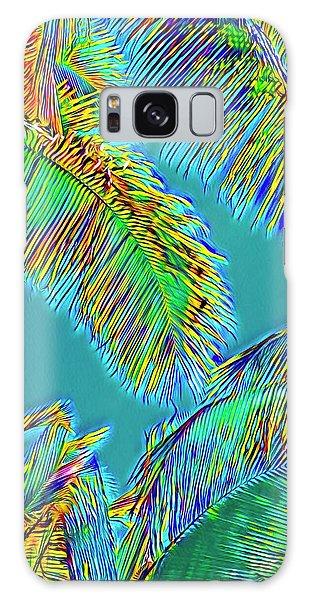 Coconut Palms Psychedelic Galaxy Case