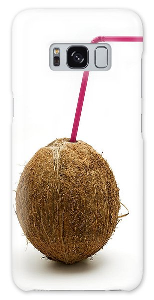 Coconut With A Straw Galaxy Case