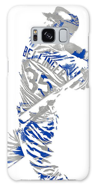 Los Angeles Dodgers Galaxy S8 Case - Cody Bellinger Los Angeles Dodgers Pixel Art 2 by Joe Hamilton