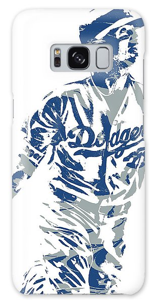 Los Angeles Dodgers Galaxy S8 Case - Cody Bellinger Los Angeles Dodgers Pixel Art 20 by Joe Hamilton