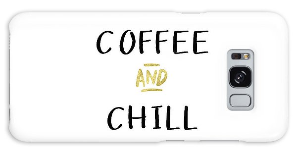 Gold Galaxy Case - Coffee And Chill-art By Linda Woods by Linda Woods