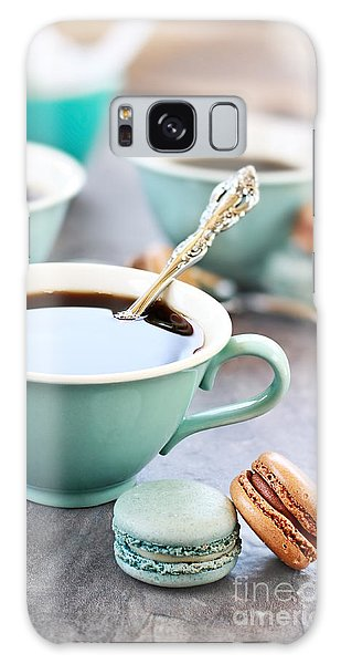 Coffee And Macarons Galaxy Case by Stephanie Frey