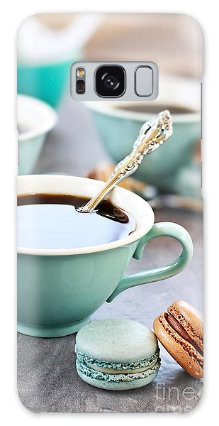 Coffee And Macarons Galaxy Case