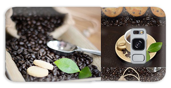 Coffee Collage Photo Galaxy Case by Serena King