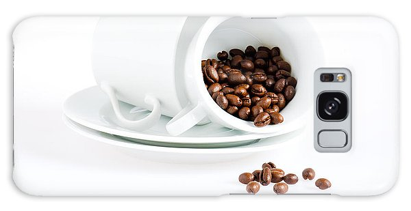Coffee Cups And Coffee Beans  Galaxy Case