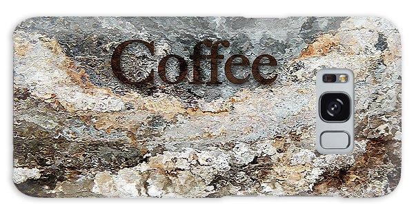 Coffee Edit 2 Brown Letters Galaxy Case by Margie Chapman