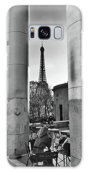Galaxy Case featuring the photograph Coffee In Paris by Frank DiMarco
