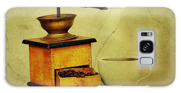 Coffee Mill And Cup Of Hot Black Coffee Galaxy Case by Michal Boubin