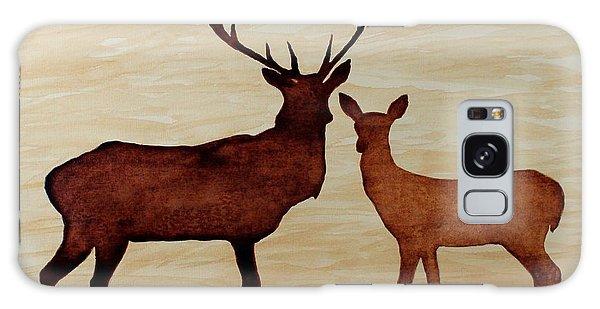 Coffee Painting Deer Love Galaxy Case