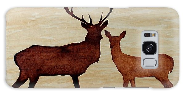 Coffee Painting Deer Love Galaxy Case