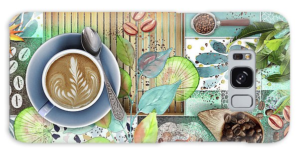 Coffee Shop Collage Galaxy Case