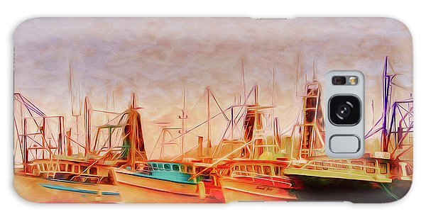 Galaxy Case featuring the photograph Coffs Harbour Fishing Trawlers by Wallaroo Images