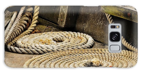 Coiled Rope From Philadelphia II Gunboat Galaxy Case by Rena Trepanier