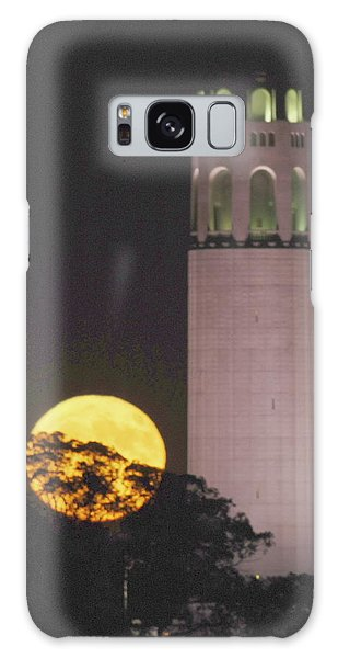 Coit Tower And Harvest Moon Galaxy Case