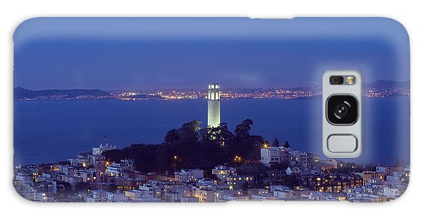 Coit Tower At Dusk San Francisco California Galaxy Case by Carol M Highsmith