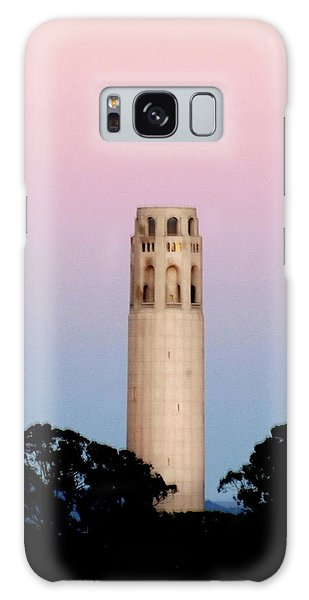 Coit Tower At Sunset Galaxy Case