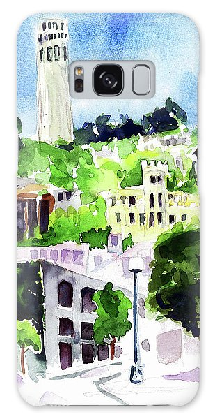 Coit Tower From The Embarcadero Galaxy Case by Tom Simmons