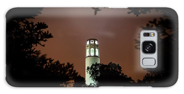 Coit Tower Through The Trees Galaxy Case