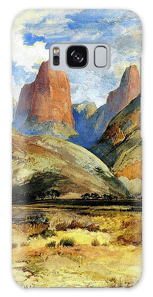 Colburns Butte South Utah Galaxy Case by Thomas Moran