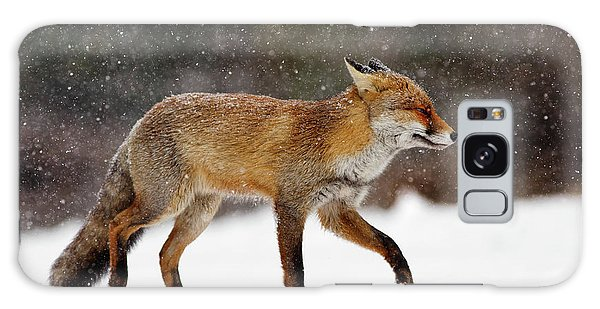 Winter Galaxy Case - Cold As Ice - Red Fox In A Snow Blizzard by Roeselien Raimond
