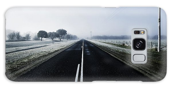 Cold Day Galaxy Case - Cold Blue Winter Road by Jorgo Photography - Wall Art Gallery