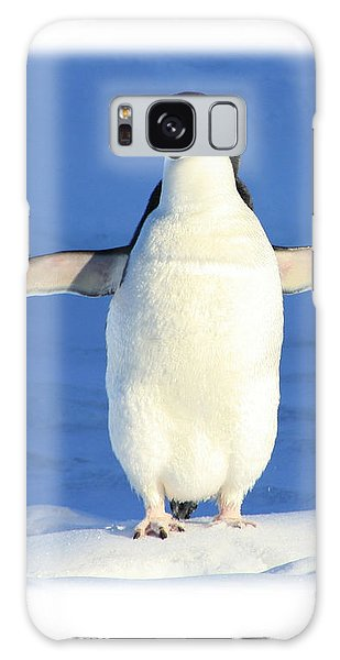 Cold Feet - Penquin In The Snow Galaxy Case