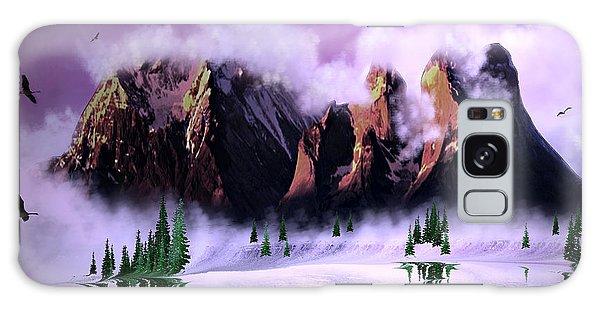 Cold Mountain Morning Galaxy Case