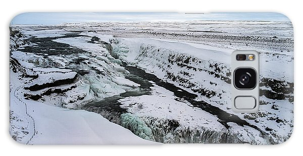 Cold Winter Day At Gullfoss, Iceland Galaxy Case
