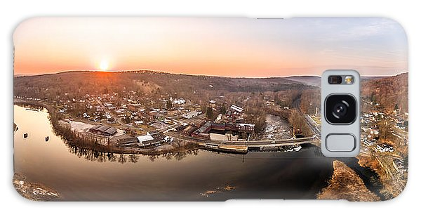 Colinsville, Connecticut Sunrise Panorama Galaxy Case